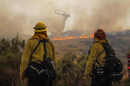 مهار آتش سوزی در جنگل های کالیفرنیا آمریکا