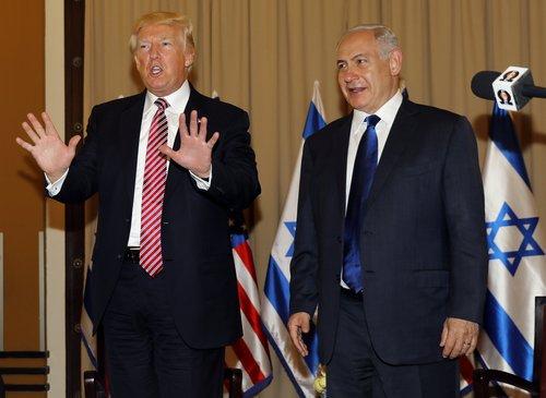ترامپ در اقامتگاه نتانیاهو در قدس