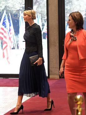 ایوانکا ترامپ دختر رئیس جمهور آمریکا از مبدأ عربستان سعودی در قدس به پدرش پیوست