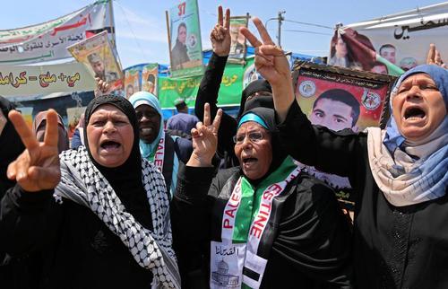 تظاهرات در همبستگی با زندانیان اعتصاب غذا کننده فلسطینی – غزه