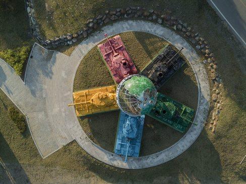 درست کردن یک اثر هنری با استفاده از تانک – کره جنوبی