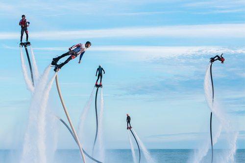 جشنواره ورزش های آبی در شهر بندری سوچی روسیه