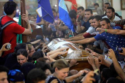 مراسم تشییع 28 قربانی مسیحی( قبطی مذهب)حمله تروریستی روز جمعه در مصر