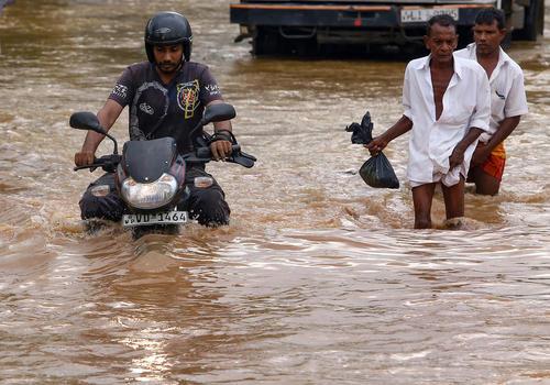 سیل در شهر کلمبو سریلانکا