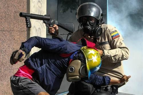 تظاهرات اعتراضی بر ضد حکومت ونزوئلا – کاراکاس