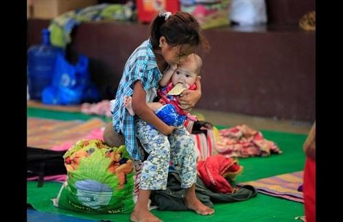 اردوگاه آوارگان جنگی گریخته از دست شبه نظامیان وابسته به داعش در جنوب فیلیپین