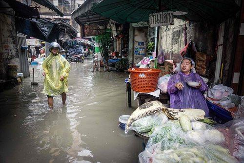 سیل در شهر بانکوک تایلند