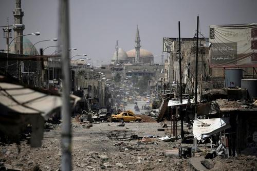 خرابی های ناشی از جنگ با داعش در محلات غربی شهر موصل عراق