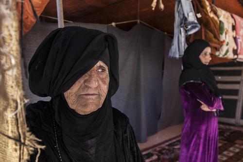 آوارگان جنگ داخلی سوریه در اردوگاهی در مرز اردن
