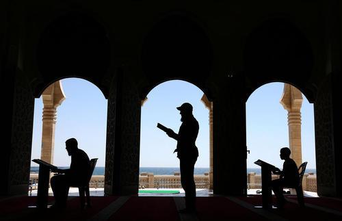 قرآن خوانی در مساجد غزه در ماه رمضان