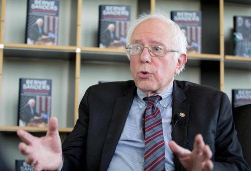 حضور برنی سندرز نامزد ناکام حزب دموکرات برای انتخابات ریاست جمهوری آمریکا در کنفرانس رسانه ای دویچه پرس آلمان در برلین