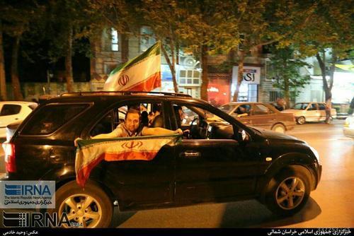شادی مردم بجنورد پس از صعود ایران به جام جهانی فوتبال