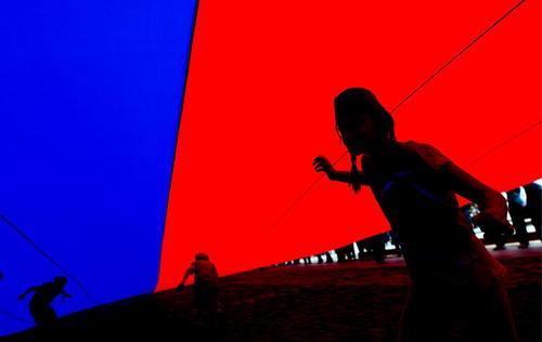 پرچم بزرگ روسیه در جشن روز ملی روسیه در مسکو