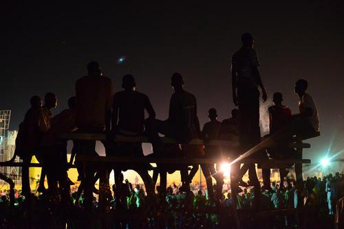 تماشای بازی نهایی لیگ محلی به مناسبت ماه رمضان در شهر جوبا پایتخت سودان جنوبی