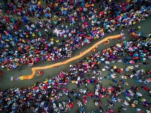 رقص اژدها در جشنواره سال نو ویتنامی