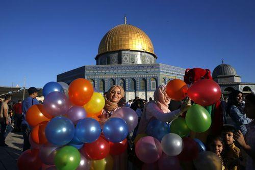 جشن عید فطر در شهر قدس