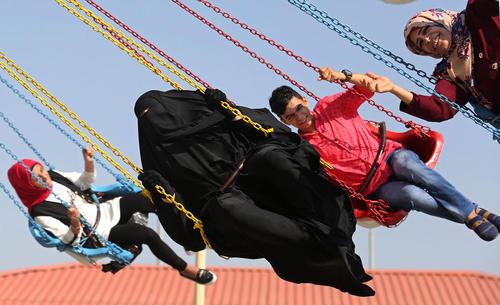 سومین روز تعطیلات عید فطر- پارکی در باریکه غزه