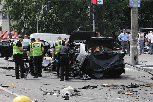 صحنه انفجار و ترور یک مقام ارشد اطلاعاتی اوکراین – کی یف
