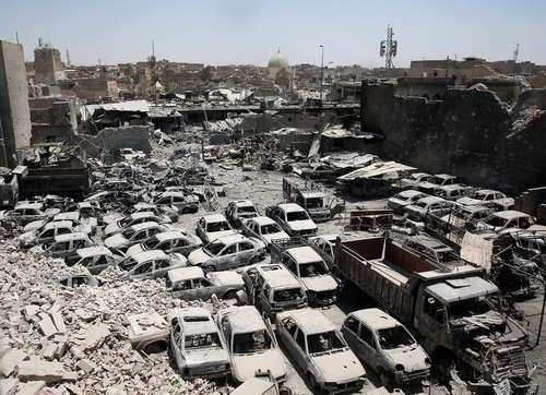 تخریب گسترده بخش های غربی شهر موصل عراق در اثر عملیات آزادسازی آن از اشغال داعش