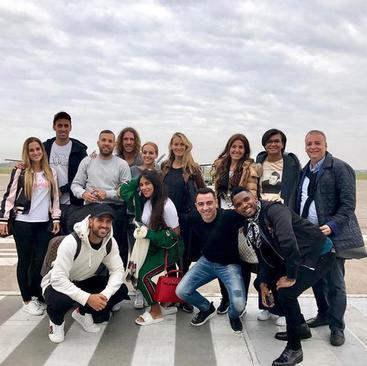 رسیدن مهمانان عروسی لیونل مسی با هواپیماهای شخصی به فرودگاه شهر روزاریو