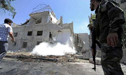 دهها کشته و زخمی در انفجار انتحاری در میدان تحریر دمشق