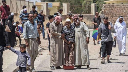 مردم پناهجو پس از خروج از موصل
