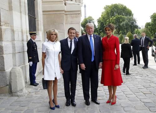 استقبال رییس جمهور فرانسه از همتای آمریکایی