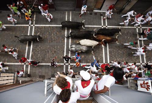 واپسین روز جشنواره گاو بازی سان فرمین در پامپلونا اسپانیا