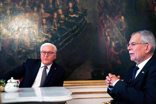 دیدار روسای جمهور آلمان و اتریش در وین