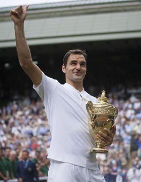 راجر فدرر تنیسور سوییسی برنده مسابقات بین المللی تنیس جام ویمبلدون شد – لندن