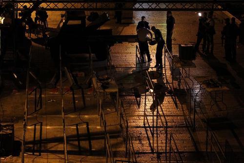 برداشتن موانع امنیتی فلزیاب در ورودی مسجد الاقصی در شهر قدس