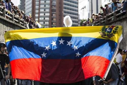 تظاهرات ضد حکومتی در شهر کاراکاس ونزوئلا