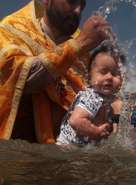 غسل تعمید یک نوزاد – روسیه
