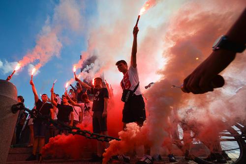 جشن ملی گرایان لهستانی به مناسبت هفتادوسومین سالگرد قیام ورشو – شهرکراکف