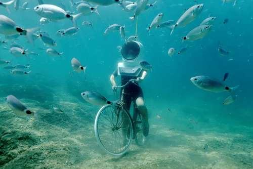 دوچرخه سواری در آکواریوم شهر پولا در کرواسی