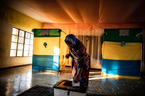انتخابات ریاست جمهور رواندا – یک حوزه رای گیری در شهر کیگالی