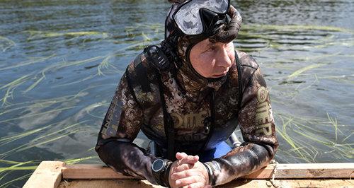 ولادیمیر پوتین با لباس غواصی