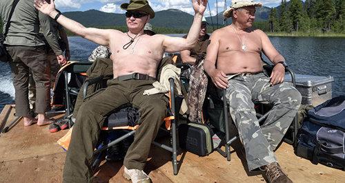 ولادیمیر پوتین و ویکتور زیمن رئیس جمهور خاکاسیا