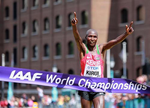 مسابقه  ماراتون در رقابتهای دوومیدانی جهانی در لندن
