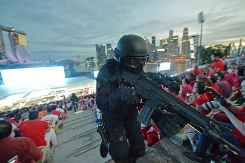 ترتیبات شدید ضد تروریستی در جشن های پنجاه و دومین سالگرد استقلال سنگاپور