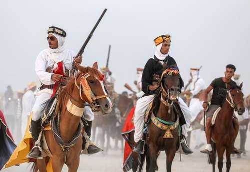 بربرها در جشنواره سالانه اسب عرب در تونس
