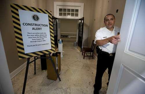 نظارت ماموران سرویس مخفی کاخ سفید بر روند بازسازی