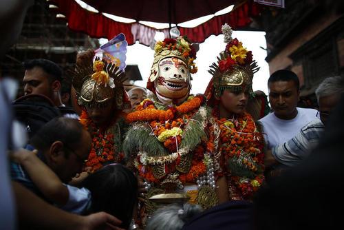 جشنواره ای آیینی در لالیتپور نپال