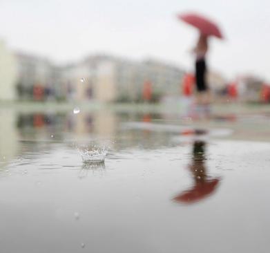 بارش باران در شهر هوینان در استان جیانگسو چین