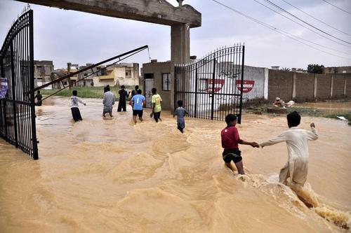 سیل در کراچی پاکستان