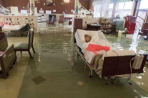 ساحل آرتور در ایالت تگزاس آمریکا در پی وقوع سیلاب ناشی از توفان هاروی