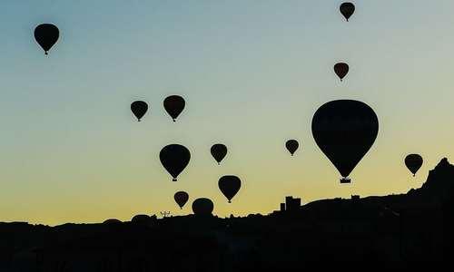 جشنواره بالن در شهر کاپادوکیا در مرکز ترکیه