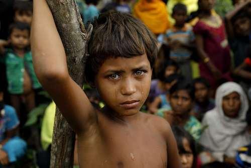 پناهجویان مسلمان میانماری که به تازگی به بنگلادش گریخته اند