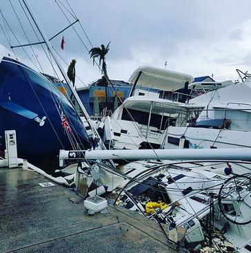 صدمات توفان ایرما به جزیره