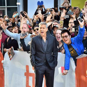 جورج کلونی هنرپیشه مشهور هالیوود در جشنواره بین المللی فیلم تورنتو